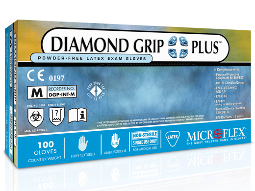 Diamond Grip Plus Latex Glove