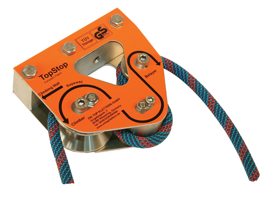 Rope Brake http://www.ferno.com.au/products/rock-climbing-equipment/pulleys/top-stop-rope-brake/ontop-klettern-topstop-rope-brake